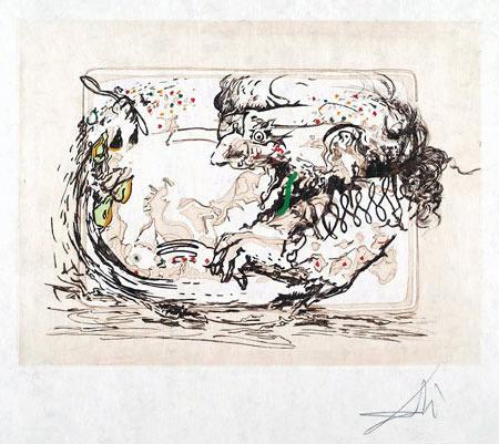 Salvador Dalí, 'La Television (the Television Set)', 1966-1967, Print, Etching, Puccio Fine Art