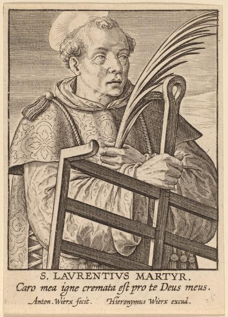 Antonie Wierix, 'S. Laurentius Martyr', Print, Engraving, National Gallery of Art, Washington, D.C.
