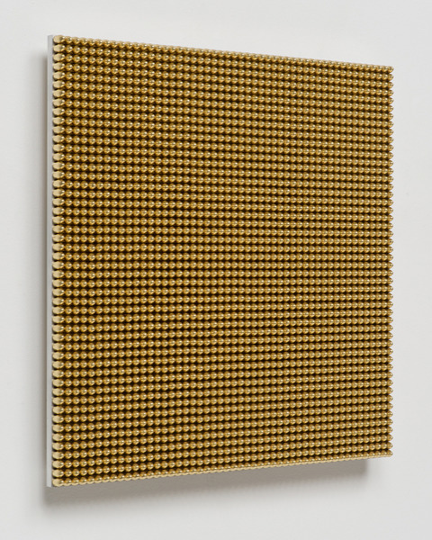 , '13.36 Seconds (9mm Gold Round Nose),' 2015, Davidson