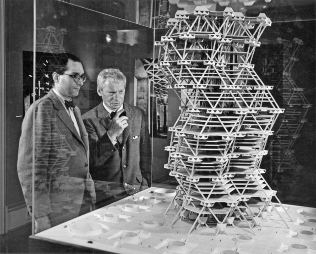, 'City Tower (model),' 1958, Bellevue Arts Museum