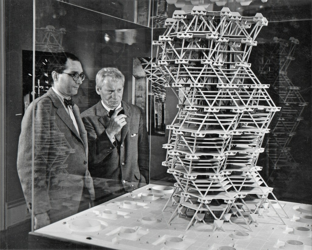 Louis kahn city tower model 1958 artsy for Louis i khan