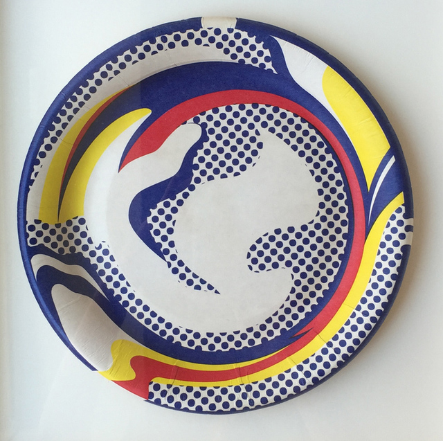 Roy Lichtenstein, 'Paper Plate', 1969, Print, Screenprint in yellow, red, and blue on white paper plate, Denis Bloch Fine Art