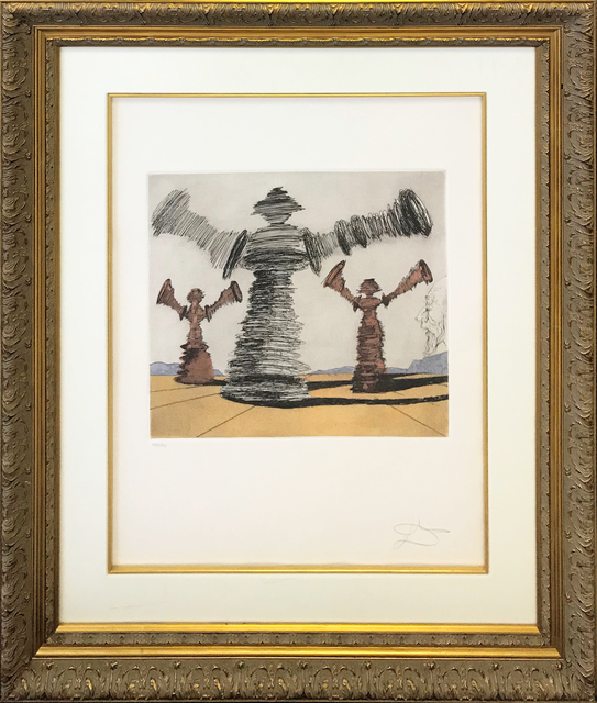 Salvador Dalí, 'THE SPINNING MAN', 1981, Print, ETCHING & AQUATINT IN COLORS, Gallery Art