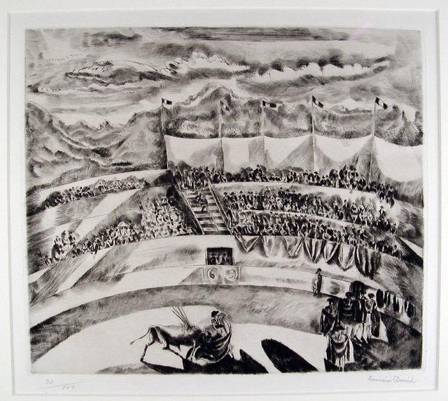 Hermine David, 'La Corrida', 1929, Print, Etching and drypoint, Harris Schrank Fine Prints
