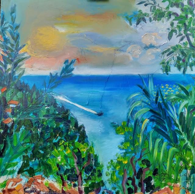 , 'Water series summer 2019 - plein air in situ paintings, Strunjan bay, boat crossing...,' 2019, Noravision Gallery
