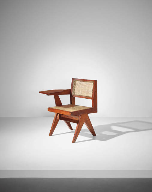 Pierre Jeanneret, 'Writing chair, model no. PJ-SI-26-E, designed for the science department and administrative offices, Punjab University, Chandigarh', ca. 1960, Phillips