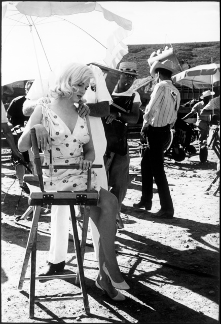 , 'American actress Marilyn Monroe on the set of 'The Misfits'. Reno, Nevada. USA.,' 1960, Magnum Photos