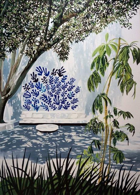, 'Blue Matisse in Quincy Jones Courtyard,' 2019, Galleri Christoffer Egelund