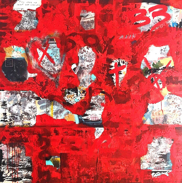 , 'A City on Fire,' 2017, Axiom Fine Art