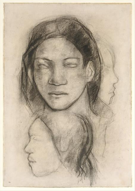 Paul Gauguin, 'Tahitian Faces (Frontal View and Profiles)', ca. 1899, The Metropolitan Museum of Art
