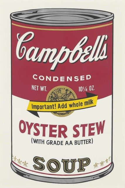Andy Warhol, 'Oyster Stew, from: Campbell's Soup II', 1969, Print, Screenprint in colours on paper, Christie's