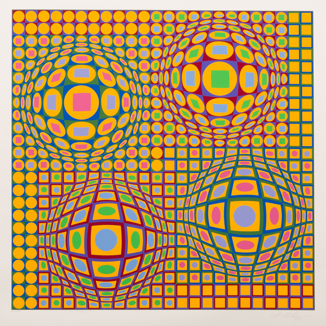 Victor Vasarely, 'Quadrature', 1979, Print, Color Screenprint, Childs Gallery
