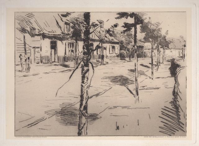 , 'A Street in Flanders,' ca. 1900, Hans den Hollander Prints