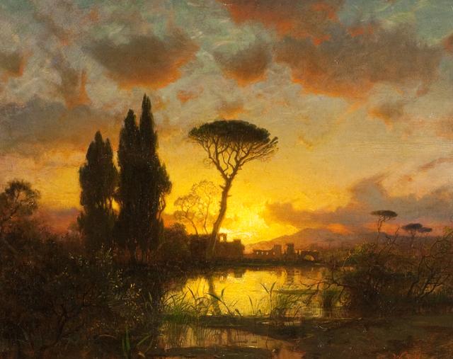 , 'Italian Landscape at Sunset,' 1883, Questroyal Fine Art
