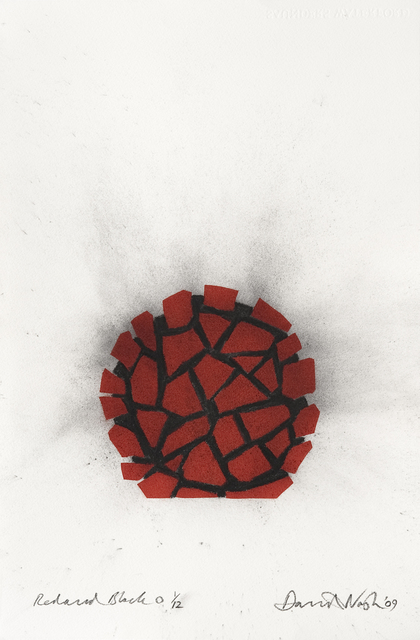, 'Red and black circle,' 2009, Galerie Lelong & Co.