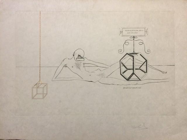 Salvador Dalí, 'L'Immortalitè Tetraedrique du cube', 1973, Wallector