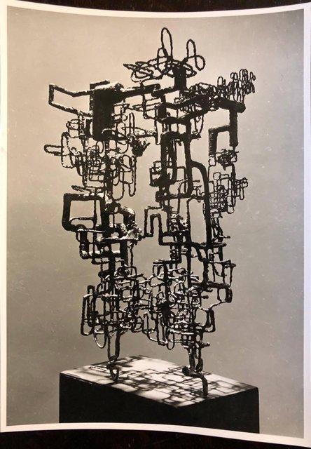 Rudy Burckhardt, 'Vintage Silver Gelatin Photo of Ibram Lassaw Modernist Sculpture (Photograph)', 1950-1959, Lions Gallery