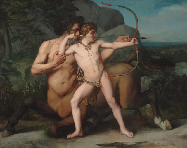 , 'The Education of Achilles by the Centaur Chiron,' 1861, M.S. Rau Antiques