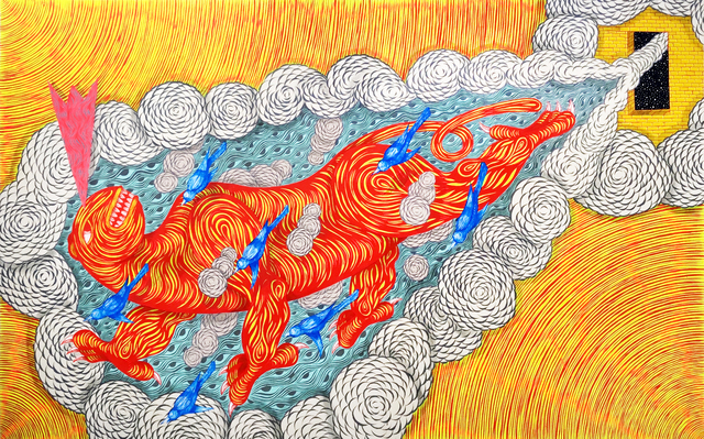 , 'Flying Beast (through the sky of eyes),' 2018, Galerie Droste