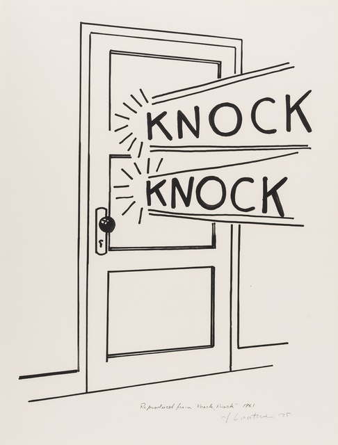 Roy Lichtenstein, 'Knock Knock (Corlett App.8)', 1975, Print, Lino-cut, Forum Auctions