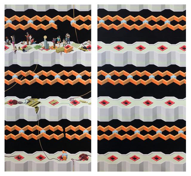 , 'Untitled (diptych),' 2014, Galeria Oscar Cruz