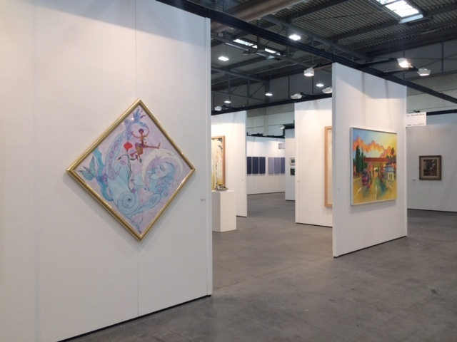 Watercolor by Luigi Ontani and painting by Salvo_Booth D3 in Modern Pavillon