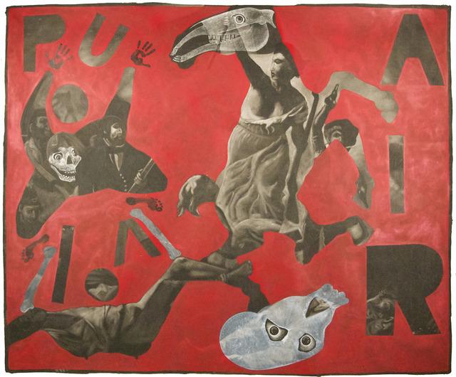 """Vincent Corpet, '3640 (After """"La liberté guidant le peuple"""" by Delacroix)', 2011, Painting, Oil painting on canvas, Mazel Galerie"""