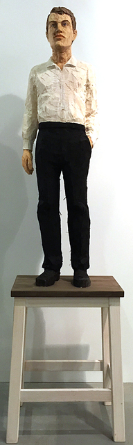 , 'Mann mit weißem Hemd und schwarzer Hose II,' 2015, Anna Laudel