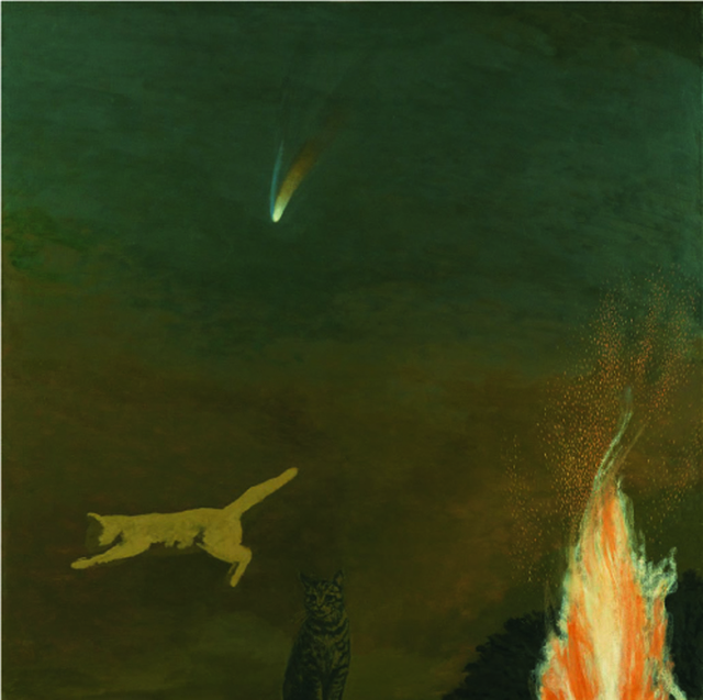 , 'Cats and Comet,' 2001, Sladers Yard