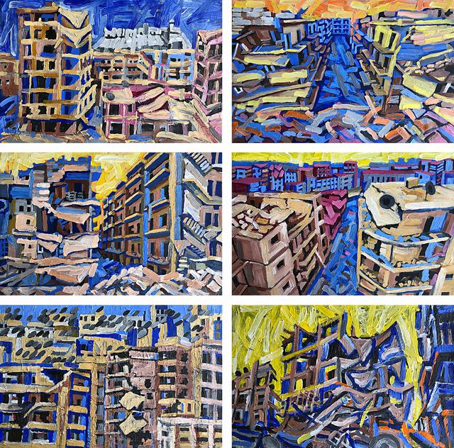 , 'Aleppo Urban Landscapes No.15 (Bird-Eye View),' 2018, Khawam Gallery