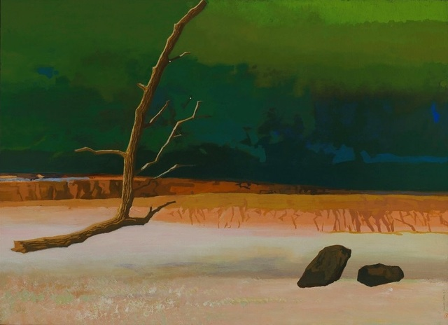 , 'A Dumb Stone Questioning a Shriveled Tree,' 2013, Powen Gallery