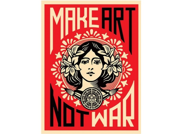 Shepard Fairey, 'Make Art Not War', Unknown, Leviton Fine Art