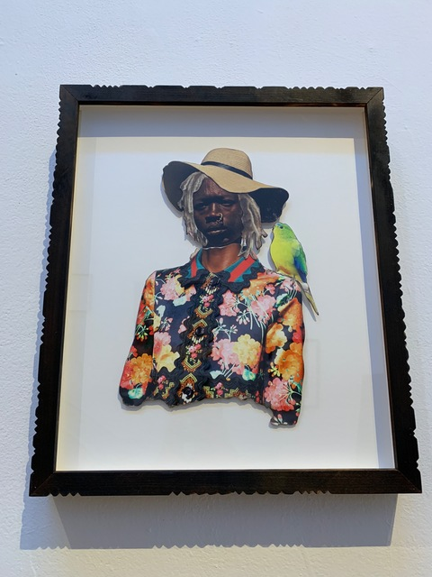 Stan Squirewell, 'Huck', 2018, Mixed Media, Mixed Media Collage in Custom Carved Frame, Rush Philanthropic Arts Foundation Benefit Auction