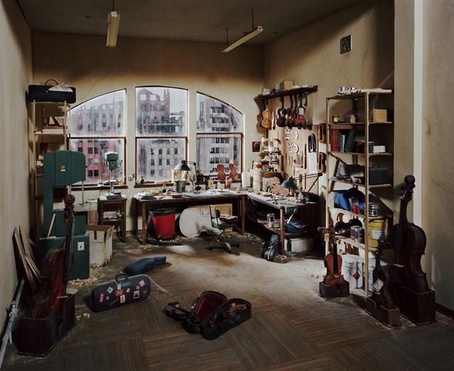 Lori Nix and Kathleen Gerber, 'Violin Repair Shop', 2011, ClampArt