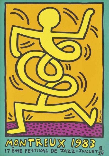 Keith Haring, 'Montreux Jazz Festival 1983', 1983, Wallector