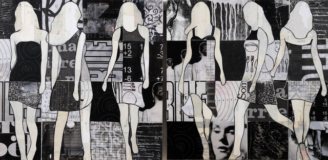 , 'Black & White (diptych),' 2016, Caldwell Snyder Gallery
