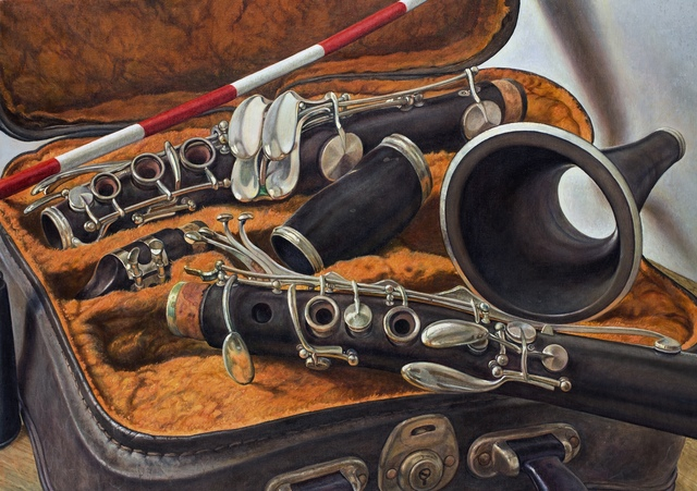 Michael Taylor (b. 1952), 'Excavated Clarinet', 2018, Painting, Oil on canvas, Waterhouse & Dodd