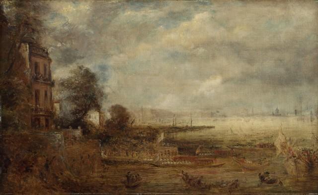 , 'Waterloo Bridge Seen from Whitehall Stairs,' ca. 1829, Clark Art Institute