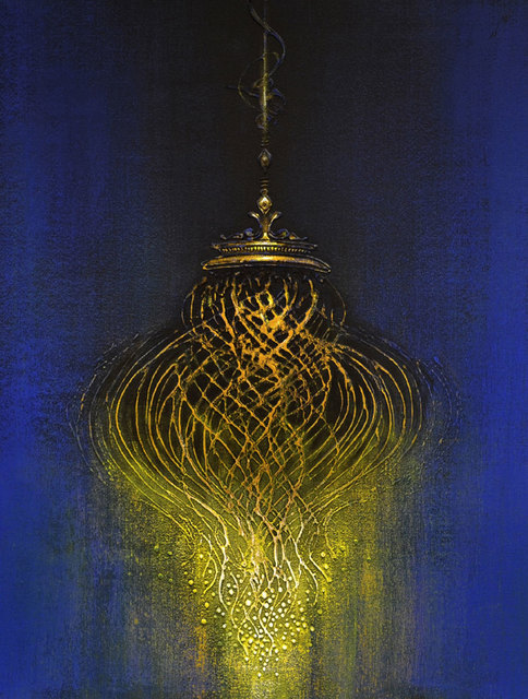 , 'Chandelier : Abstract in deep blue acrylic on canvas,symbol of luxury and status by Contemporary Artist Vishal Joshi,' 2018, Gallery Kolkata
