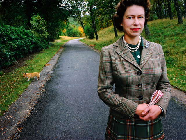 , 'Queen Elizabeth with Corgis,' 1967, Peter Fetterman Gallery