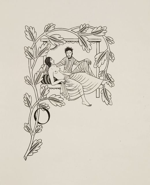 Eric Gill, 'THE WIFE OF THE BATH'S TALE; AND; VADAM AD MONTEM', 1934, Print, Three wood engravings, Sworders