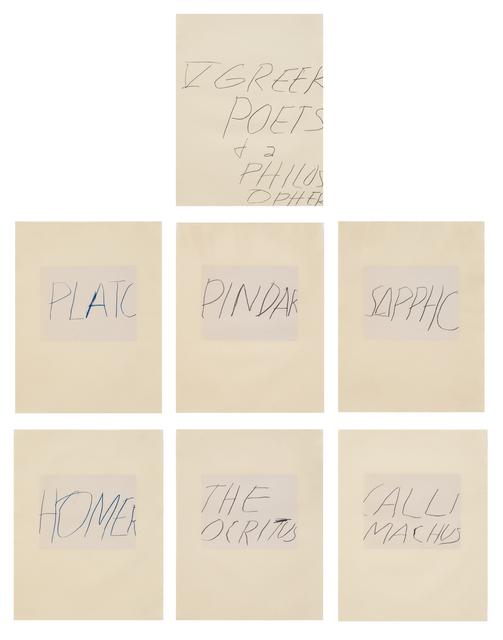 , 'Five Greek Poets and a Philosopher,' 1978, Susan Sheehan Gallery