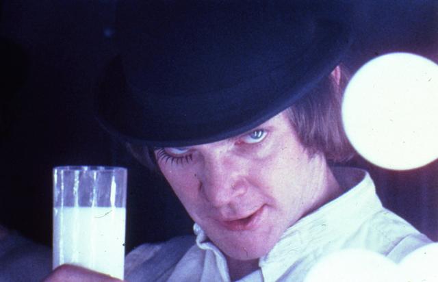 Stanley Kubrick, 'A Clockwork Orange, directed by Stanley Kubrick (1970-71; GB/United States). Alex DeLarge (Malcolm McDowell) in the Korova Milkbar.', 1970-1971, Kunstforeningen GL STRAND