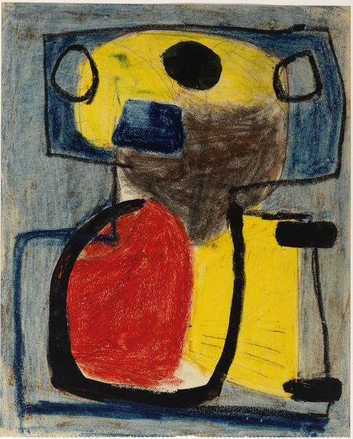 Karel Appel, 'Personnage', 1947, Drawing, Collage or other Work on Paper, Gouache and pencil on paper, Centre Pompidou