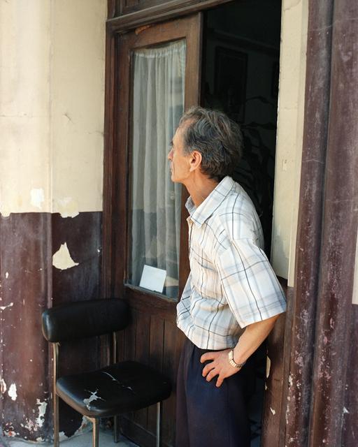 , 'Hairdresser in front of his shop in the Boukhachkhach district,' 2015, Galerie Clémentine de la Féronnière