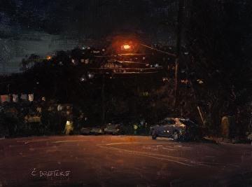 Carl Bretzke, 'Cliff Drive After Dark', 2018, Grenning Gallery