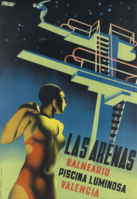 Josep Renau Montoro, 'LAS ARENAS BALNEARIO PISCINA LUMINOSA', 1932, Swann Auction Galleries