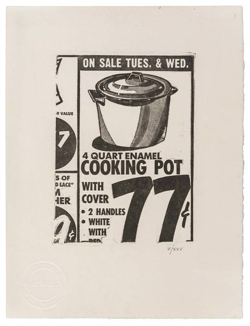 Andy Warhol, 'Cooking Pot', 1962, ArtRite