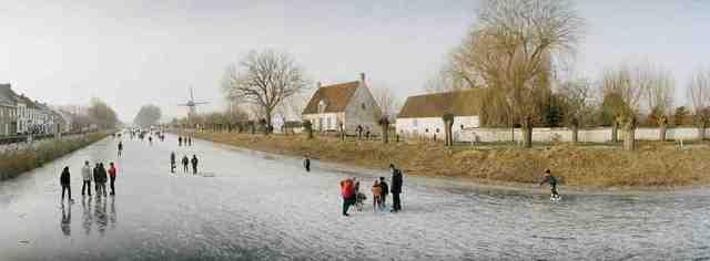 , 'Belgium, Damme, Skating on the Canals.,' 2010, Anastasia Photo