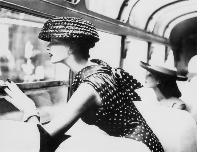 Lillian Bassman, 'More Fashion Mileage Per Dress, Barbara Vaughn, dress by Filcol, New York', 1956, Photography, Platinum print, Edwynn Houk Gallery